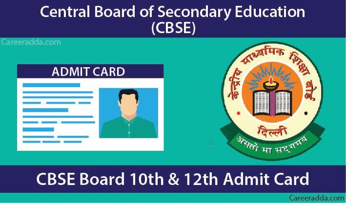 CBSE 10th & 12th Admit Card