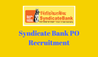 Syndicate Bank PO 2018 – Notification, Application Form, Syllabus