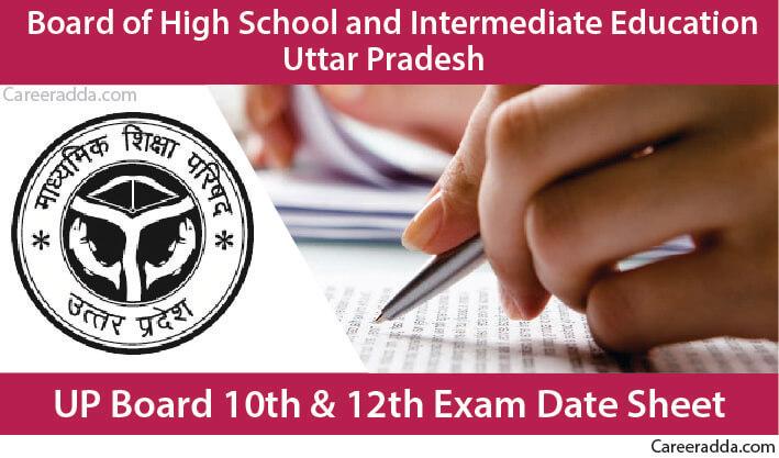 UP Board Class 10th & Class 12th Date Sheet