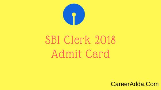 sbi clerk 2018 Admit Card