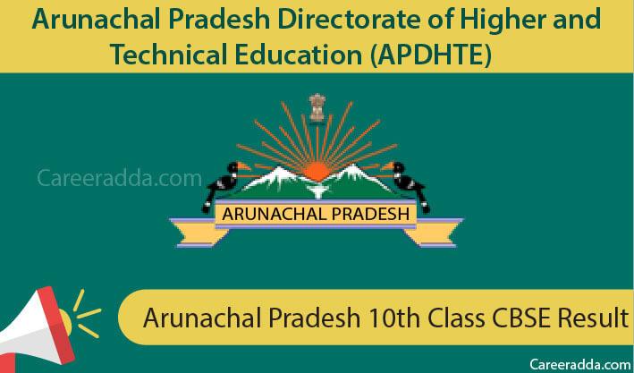 Arunachal Pradesh 10th Class Result