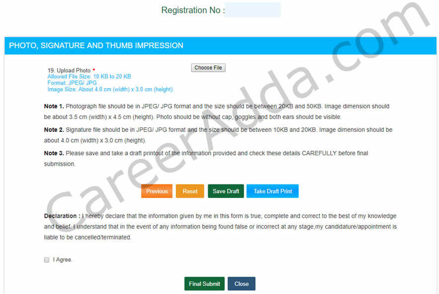 SSC CHSL Application Photo