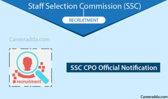 SSC CPO 2018 Recruitment & Notification
