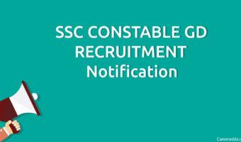 SSC Constable GD 2018 Recruitment, Notification, Apply Online, Vacancies
