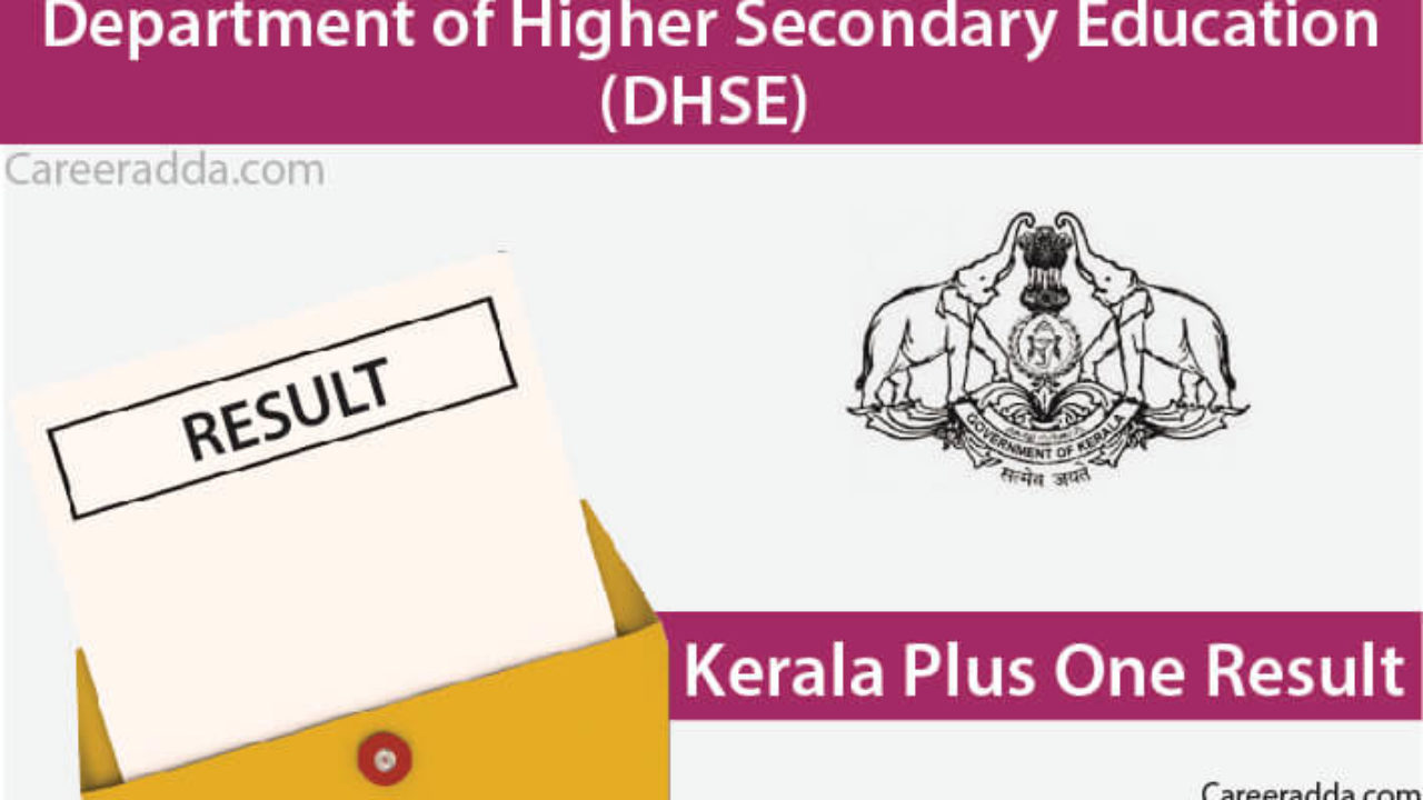Kerala Plus One Result 2019 - DHSE First Year Result 2019