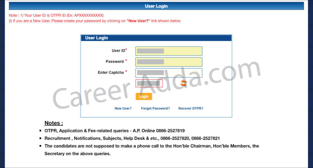 APPSC Group 1 User Login
