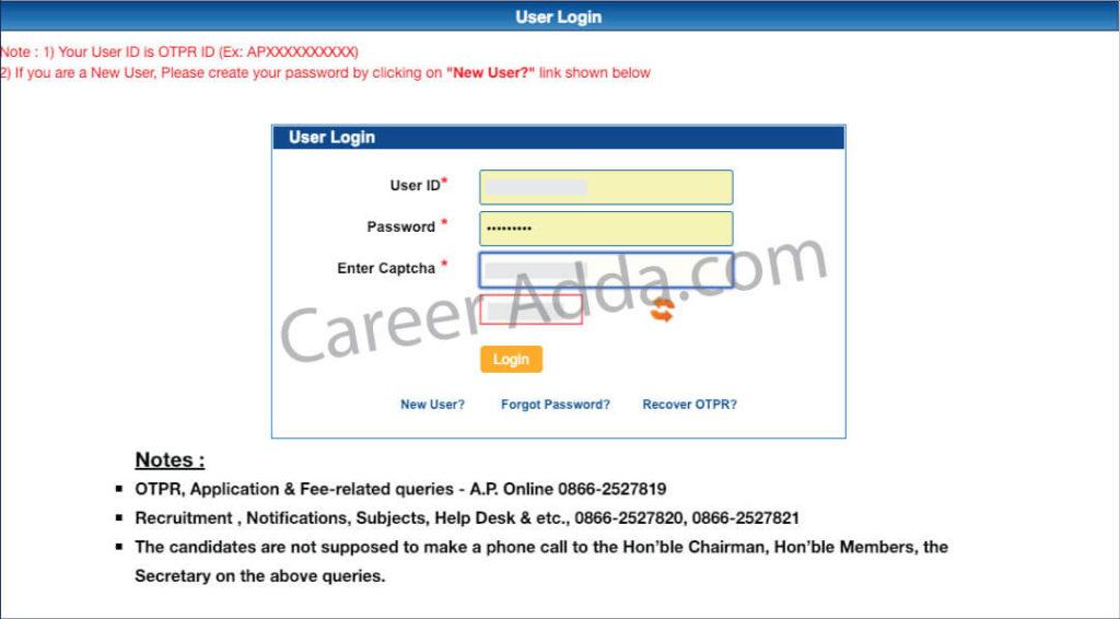 APPSC Group 2 Online Application login