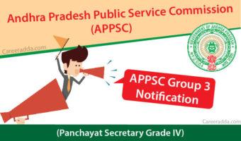APPSC Group 3 (Panchayat Secretary Grade IV) Notification 2018