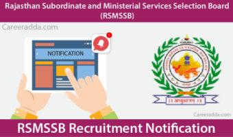 RSMSSB Recruitment 2018 – Notification, Apply Online