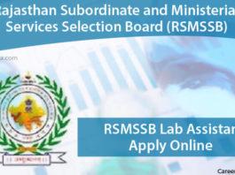 RSMSSB Lab Assistant Apply Online