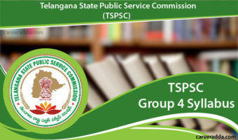 TSPSC Group 4 Syllabus 2018 & Selection Procedure