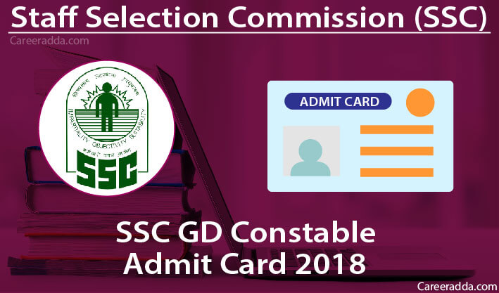 SSC GD Constable 2018 Admit Card