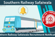 Southern Railway Safaiwala Recruitment