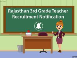 Rajasthan 3rd Grade Teacher Recruitment