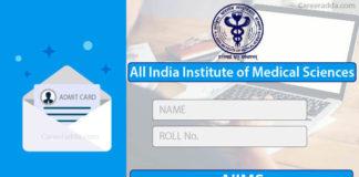 AIIMS Nursing Officer Admit Card