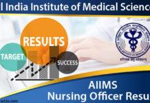 AIIMS Nursing Officer Results