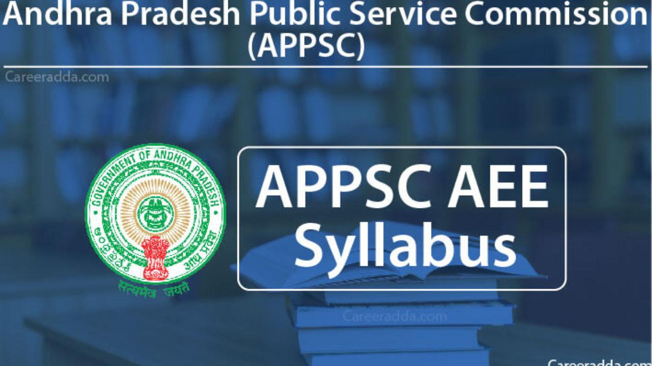 APPSC AEE 2018 Syllabus, Exam Pattern, Selection Process