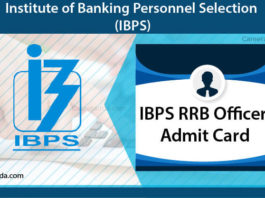 IBPS RRB Officer Admit card