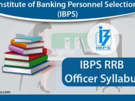 IBPS RRB Officer Syllabus