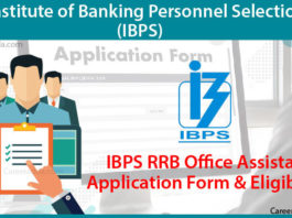 IBPS RRB Offiecr Assistant Application Form