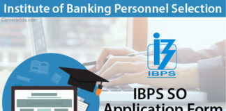 IBPS SO Application Form