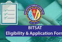 BITSAT Online Application Form
