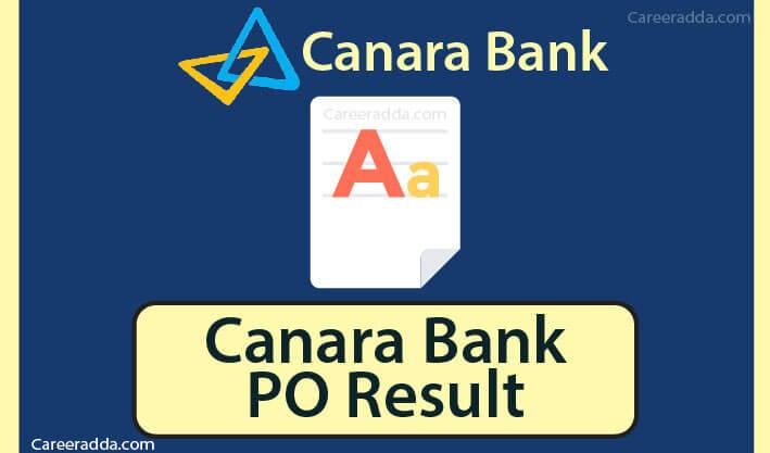 Canara Bank PO Results