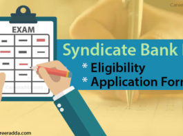 Syndicate Bank PO Application Form