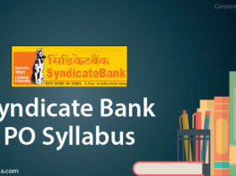 Syndicate Bank PO Syllabus