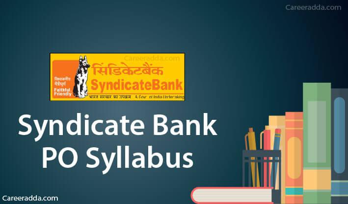 Syndicate Bank PO Syllabus