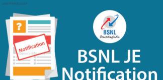 BSNL JE Recruitment