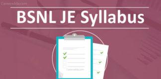 BSNL JE Syllabus