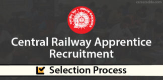 Central Railway Apprentice Selection Process