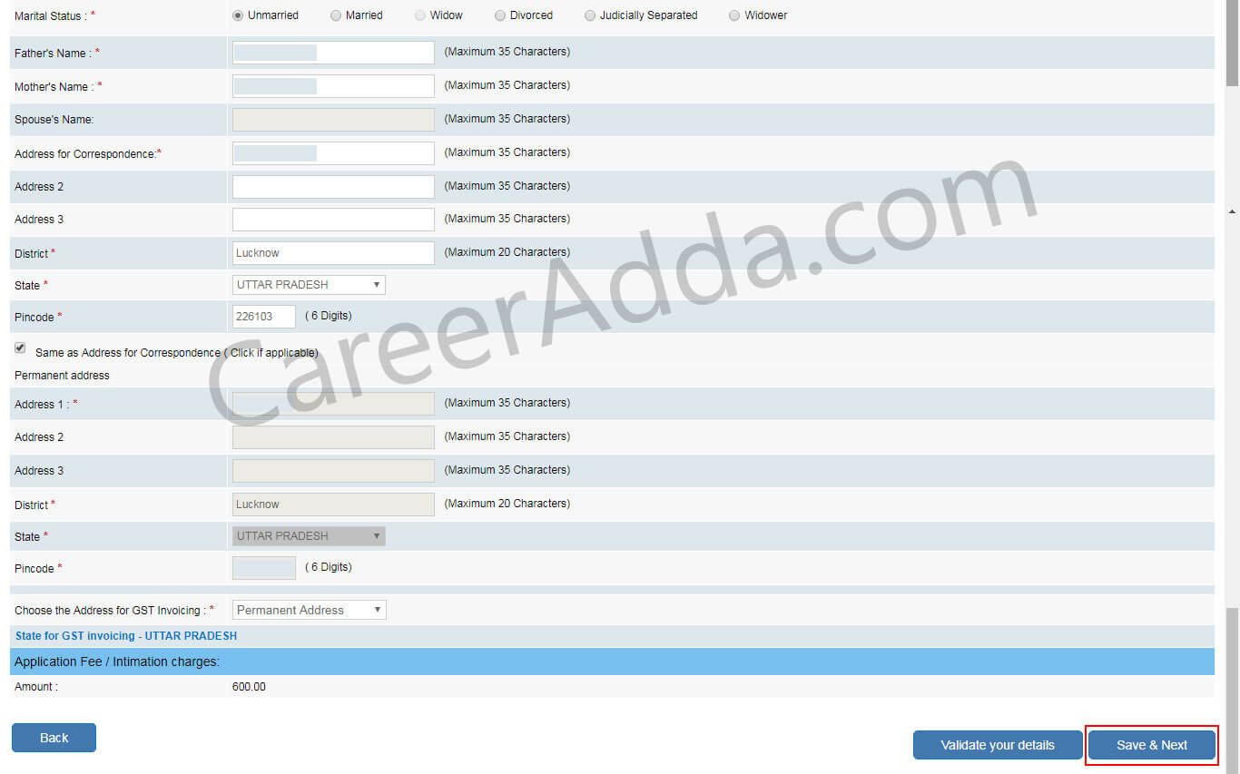 LIC ADO Online Application
