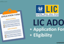 LIC ADO Application Form