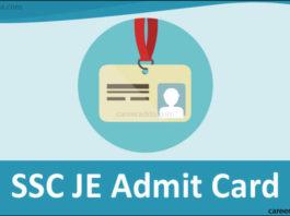 SSC JE Admit Card