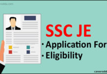 SSC JE Application Form
