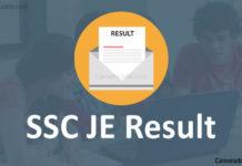 SSC JE Results