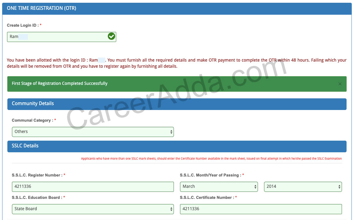 TNPSC Group 4 Application Form