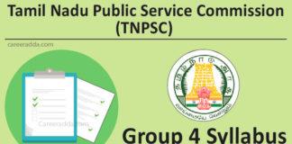 TNPSC Group 4 Syllabus