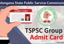 TSPSC Group 1 Admit Card