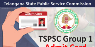 TSPSC Group 1 Admit Card