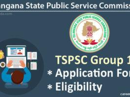 TSPSC Group 1 Application Form