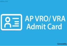 AP VRO VRA Hall Tickets