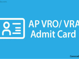 AP VRO VRA Hall Tickets
