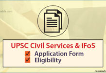 Civil Services Exam Online Application Form