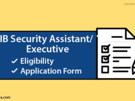 IB Security Assistant Apply Online