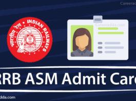 RRB ASM Admit Card