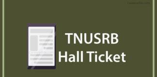 TNUSRB SI Hall Tickets