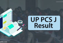 UP PCS J Result